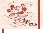 agenda 2014 mickey retro horizontal 10x15cm-4002725767820