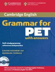 Cambridge Grammar For Pet: Student S Book With Key & 1 Cd-audio por Louise Hashemi;