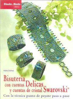 bisuteria con cuentas delicas y cuentas de cristal swarovski con la  tecnica punto de peyote