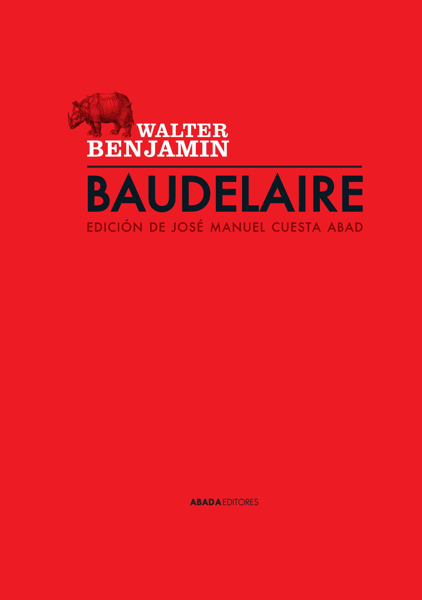 Baudelaire por Walter Benjamin