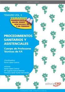 cuerpo de profesores tecnicos de f.p. procedimientos sanitarios y asistenciales: temario (vol 2.)-9788468132037