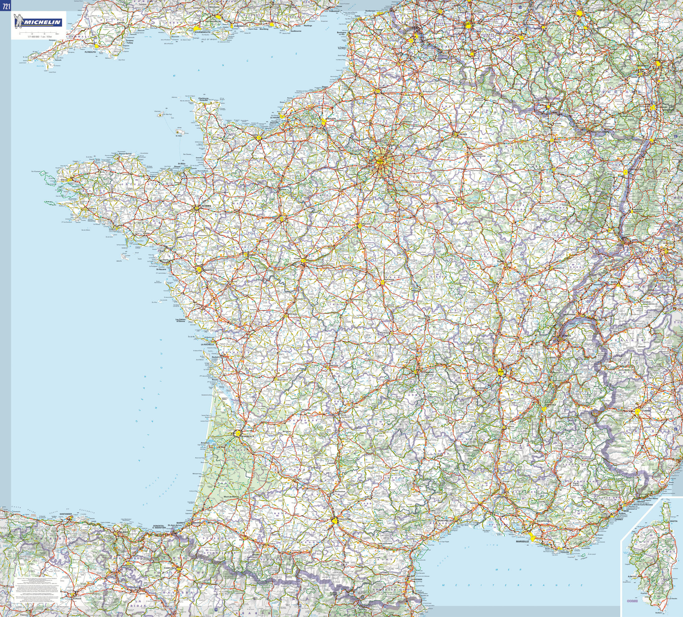 michelin mapa FRANCE (MAPAS PLASTIFICADOS MICHELIN) | VV.AA. | Comprar libro  michelin mapa