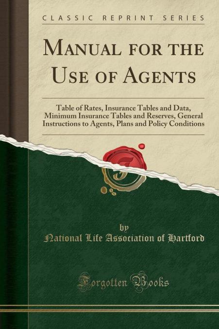 Descargar gratis Manual For The Use Of Agents Epub