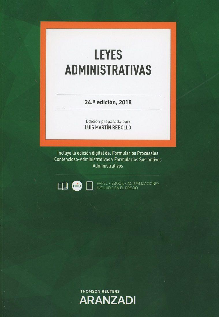 leyes administrativas (24ª ed.)-luis martin rebollo-9788491974567