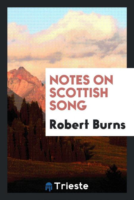 Notes On Scottish Song Descargar PDF