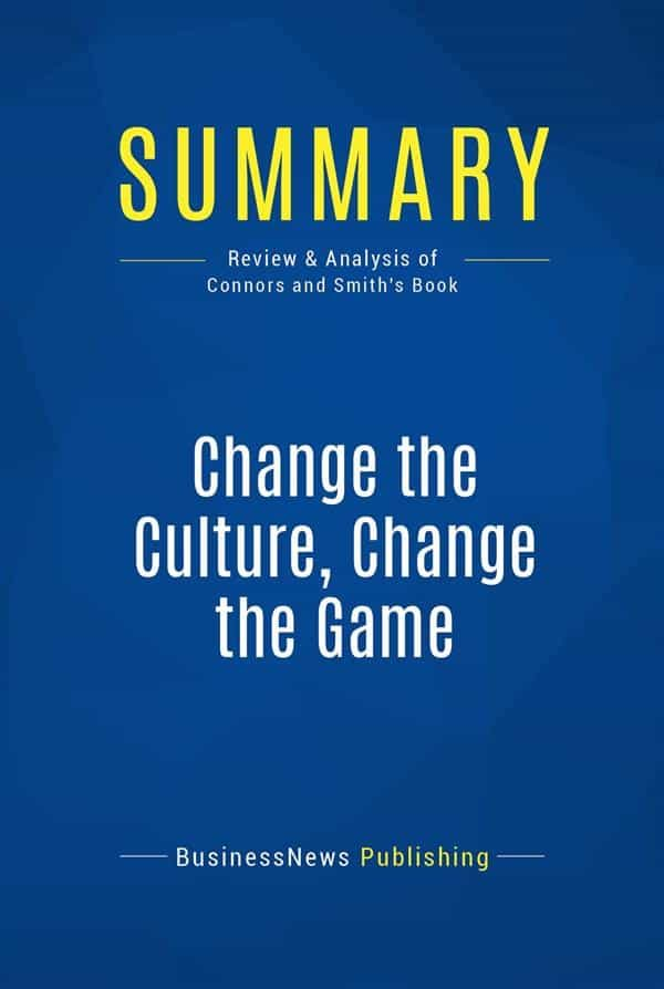 Change The Culture Change The Game Pdf