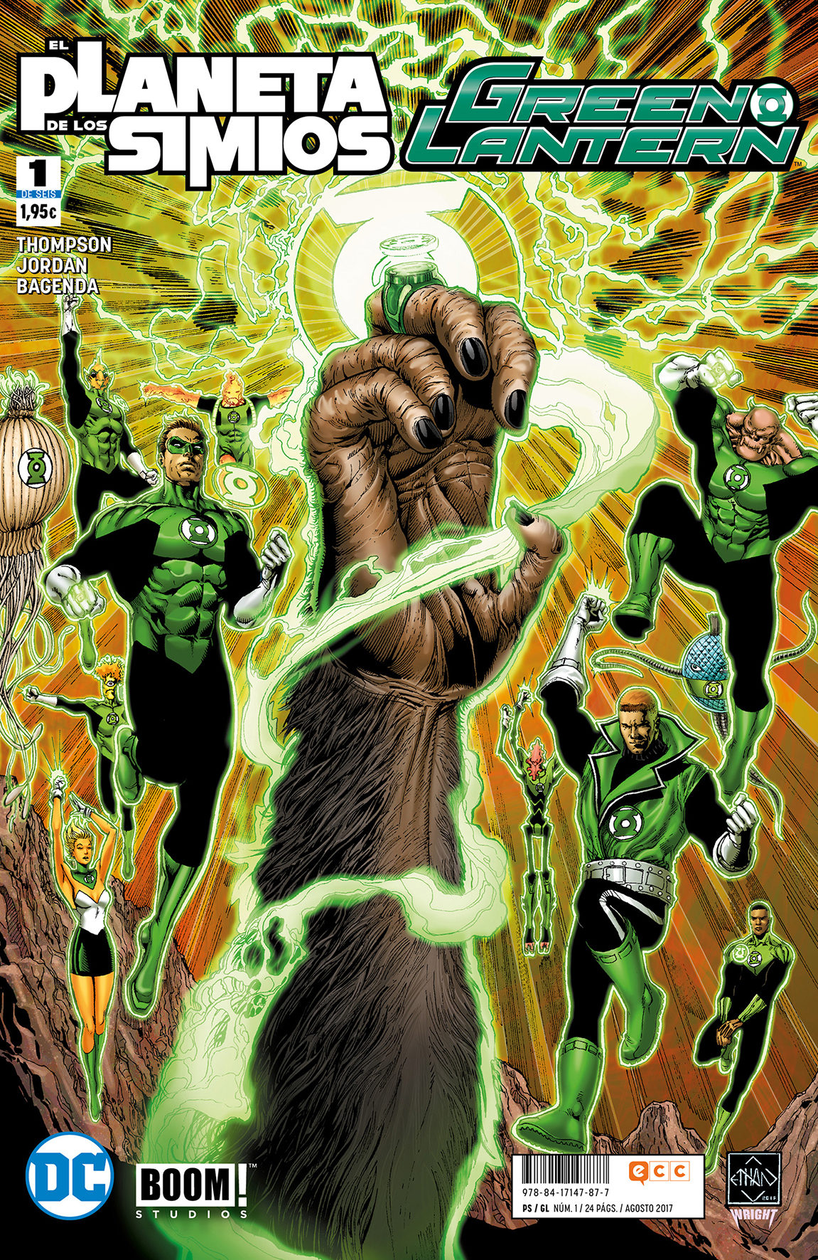 green lantern/el planeta de los simios nº 01 (de 6)-justin jordan-robbie thompson-9788417147877