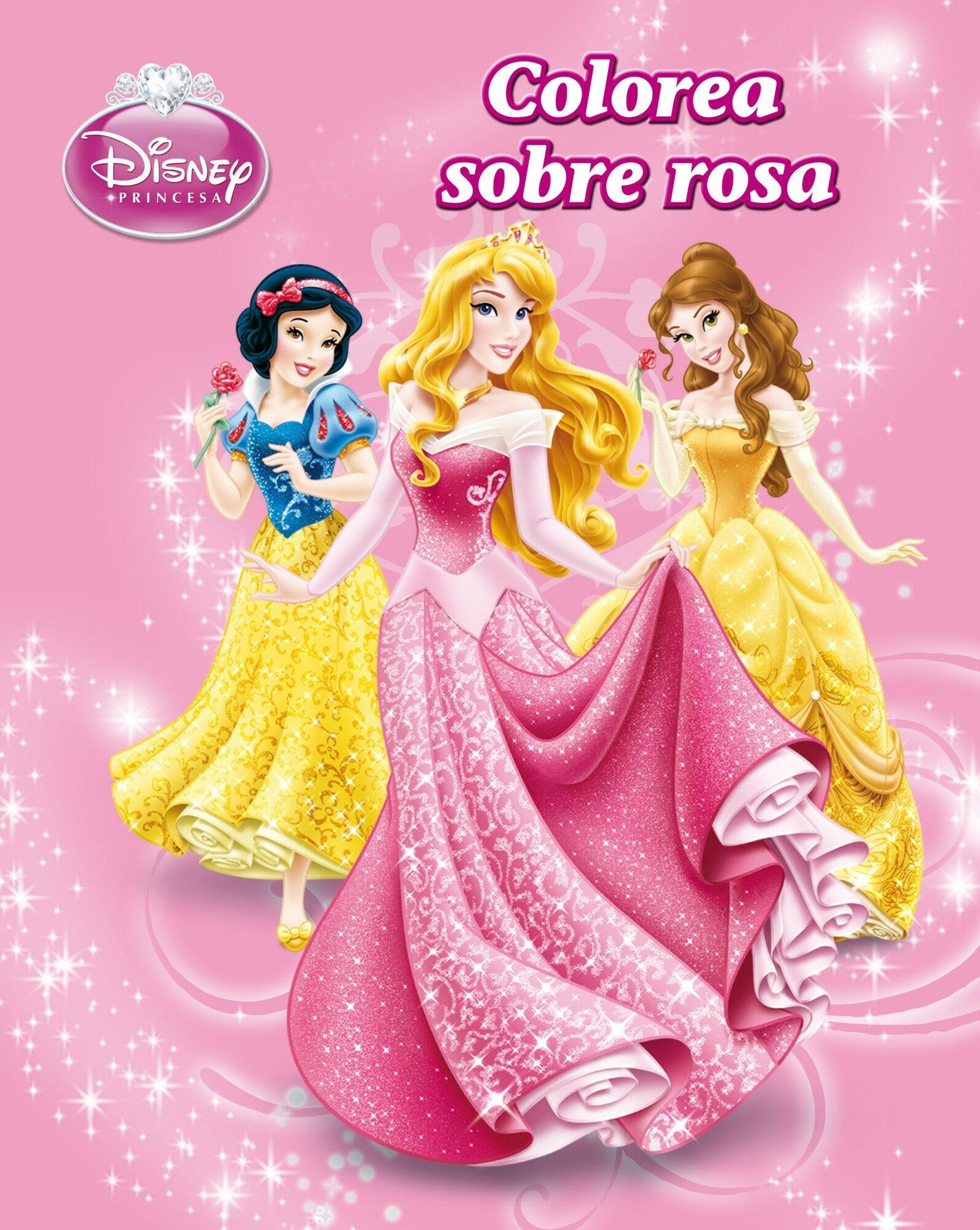 PRINCESAS. LIBRO PARA COLOREAR. COLOREA SOBRE ROSA | VV.AA ...