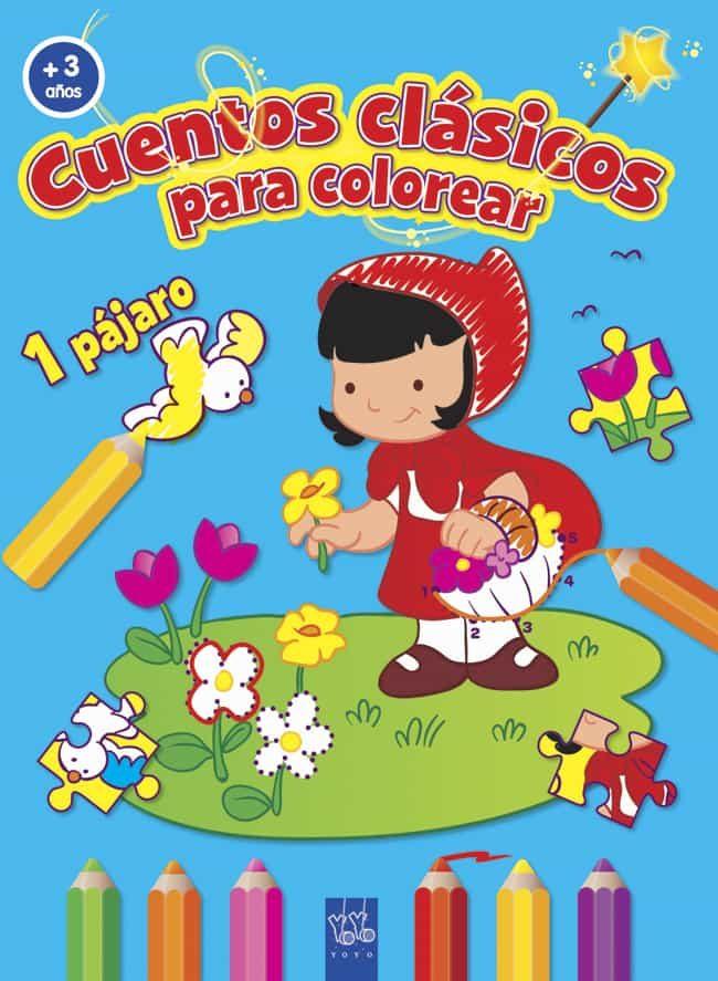 CUENTOS CLASICOS PARA COLOREAR (+ 3 AÑOS) CAPERUCITA ROJA | VV.AA ...