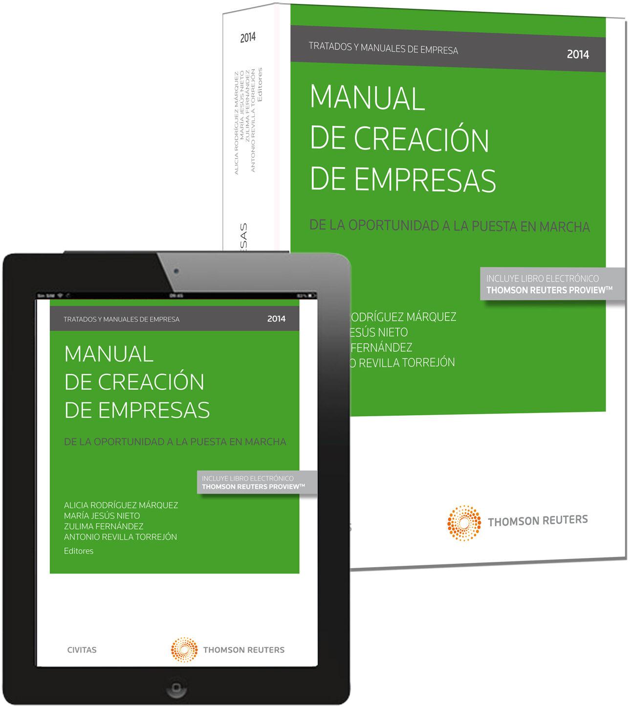 Manual De Creación De Empresas. De La Oportunidad A La Puesta En Marcha por Alicia Rodríguez Márquez