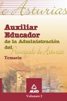 Auxiliar Educador Principado Asturias. Temario (vol. Ii) por Vv.aa.