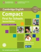 compact first for schools second edition student s book with answers with cd rom 9781107415607