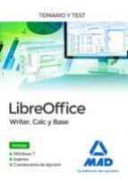 libreoffice: writer, calc y base. temario y test 9788414212707