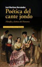 poética del cante jondo jose martinez hernandez 9788417418007