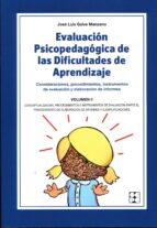 evaluación psicopedagógica de las dificultades de aprendizaje jose luis galve manzano 9788478695607