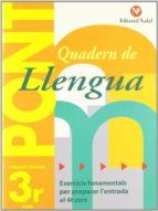 pont 3 llengua                  ( educación primaria 3r ) 9788478874507