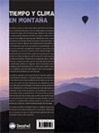 tiempo y clima en montaña: manual practico de meteorologia loli palomares jordi pons 9788498291407