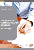 operario de administracion general de la rioja. temario y test 9788499379807