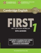 cambridge english first 1 for revised exam from 2015 student s book with answers 9781107695917
