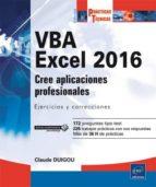 vba excel 2016-claude duigou-9782409002717