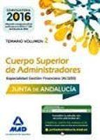 cuerpo superior de administradores: especialidad gestion financiera (a1 1200)]: temario (volumen 2)-9788414201817