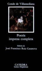 poesia impresa completa juan de tassis conde de villamediana 9788437609317