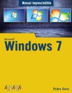 windows 7 (manual imprescindible) pedro dans alvarez de sotomayor 9788441526617
