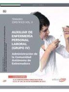 AUXILIAR DE ENFERMERÍA. PERSONAL LABORAL (GRUPO IV) DE LA ADMINISTRACIÓN DE LA COMUNIDAD AUTÓNOMA DE EXTREMADURA. TEMARIO