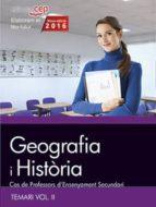 cos de professors d ensenyament secundari. geografia i història. temari vol. ii. 9788468168517