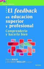 el feedback en educación superior y profesional david boud 9788427721227