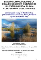 estudio limnológico de la cola de mendixur (embalse de ullivarri-ganboa, álava) como trampa de nutrientes (ebook)-miguel álvarez cobelas-9788460662327