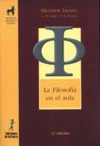 la filosofía en el aula (ebook) matthew lipman a.m. sharp f.s. oscayan 9788479607227