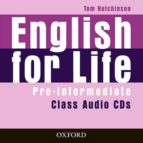 english for life pre intermediate: class audio cds tom hutchinson 9780194307437