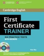 first certificate trainer: practice tests with answers and audio cd 9780521128537