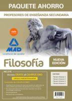 paquete ahorro filosofía cuerpo de profesores de enseñanza secundaria 9788414214237