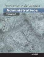 ADMINISTRATIVOS AYUNTAMIENTO DE VALENCIA: TEMARIO 1