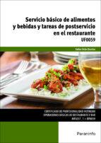 uf0059 - servicio basico de alimentos y bebidas y tareas de postservicio en el restaurante-esther urda chamizo-9788428396837
