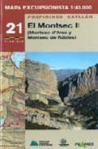 mapa excursionista el montsec ii 9788483212837