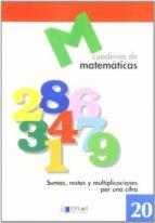 cuaderno de matematicas, n. 20 9788489655737