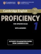 cambridge english proficiency 1 for updated exam cambridge esol student's book with answers 9781107695047