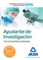 ayudantes de investigación de los organismos públicos de investig ación 9788414204047