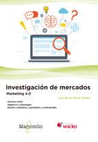 investigacion de mercados. marketing 4.0-9788426726247