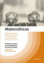 matematicas. pruebas de acceso ciclos formativos de grado superior 9788428341547