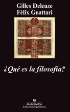 ¿que es la filosofia? (8ª ed.)-gilles deleuze-felix guattari-9788433913647