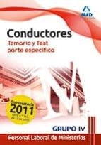 CONDUCTORES. PERSONAL LABORAL DE MINISTERIOS. GRUPO IV. TEMARIO Y TEST