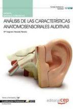 manual analisis de las caracteristicas anatomosensoriales auditiv as. cualificaciones profesionales-9788468144047