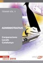 administratius corporacions locals catalunya. volumen ii-9788499375847