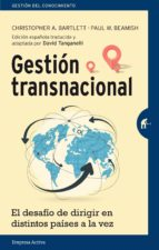 gestión transnacional (ebook)-christopher a. bartlett-paul w. beamish-9788499449647