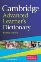 cambridge advanced learner s dictionary (4th edition) (hardback) 9781107035157