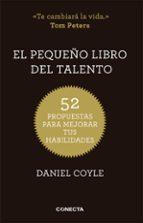 el pequeño libro del talento daniel coyle 9788415431657